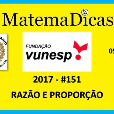 Vunesp 2017 Tribunal de Justiça Militar TJM Matemática razão e proporção
