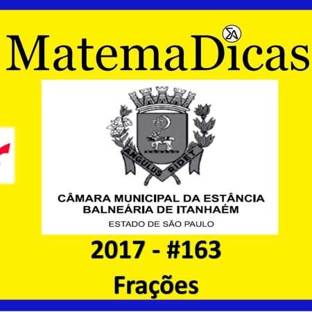 frações vunesp 2018 resolução de exercícios e questões de provas concursos e vestibulares câmara municipal estância balneária de itanhaém