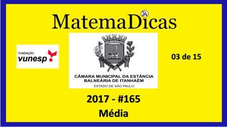 média vunesp 2018 resolução de exercícios e questões de provas concursos e vestibulares câmara municipal estância balneária de itanhaém