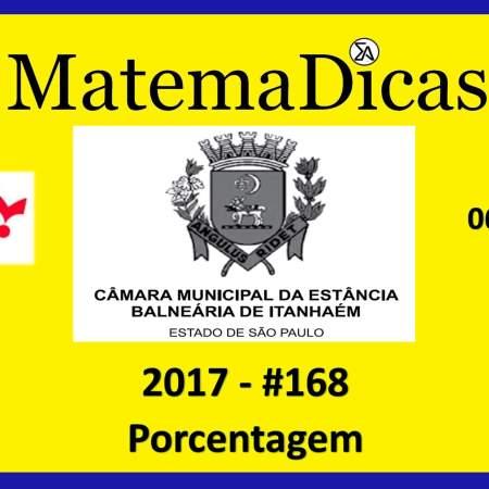 porcentagem vunesp 2018 resolução de exercícios e questões de provas concursos e vestibulares câmara municipal estância balneária de itanhaém