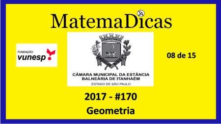 geometria vunesp 2018 resolução de exercícios e questões de provas concursos e vestibulares câmara municipal estância balneária de itanhaém