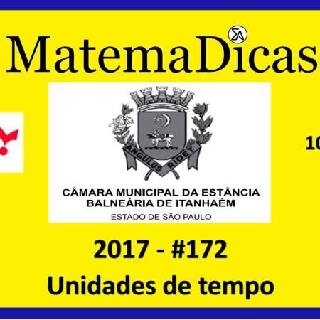 unidades de tempo vunesp 2018 resolução de exercícios e questões de provas concursos e vestibulares câmara municipal estância balneária de itanhaém