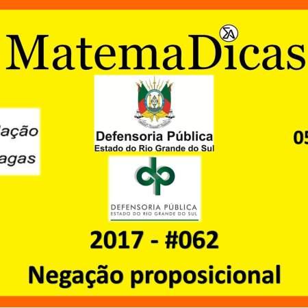 fcc 2017 defensoria pública negação proposicional