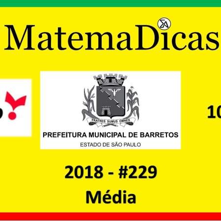 exercícios e questões de média concurso vunesp 2018 prefeitura de barretos