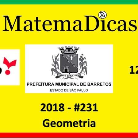 exercícios e questões de geometria concurso vunesp 2018 prefeitura de barretos