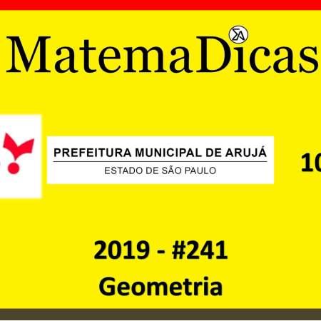 matemática para concursos públicos questão de geometria vunesp 2019 concurso da prefeitura de arujá