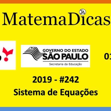 concurso da secretaria de educação do governo de são paulo vunesp 2019 sistemas de equações
