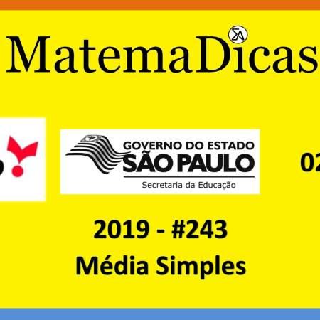 concurso da secretaria de educação do governo de são paulo vunesp 2019 média simples
