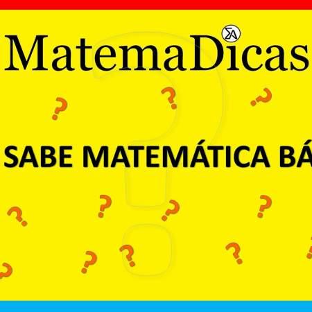 lista de exercícios de matemática básica para concursos