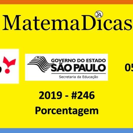 concurso da secretaria de educação do governo de são paulo vunesp 2019 regra de três porcentagem