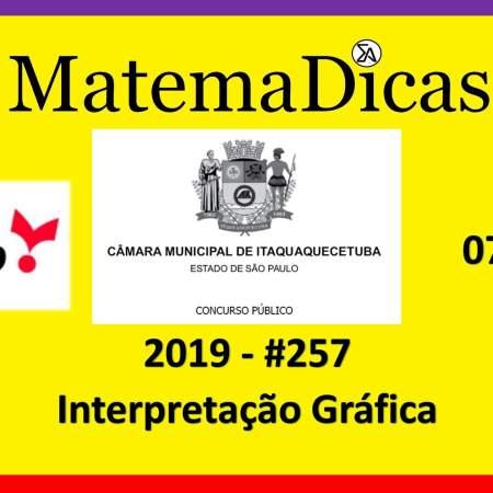 matemática para concursos exercício de interpretação gráfica vunesp 2019