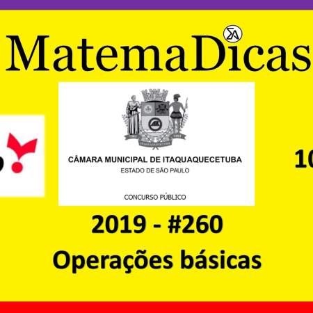 Operações básicas (10 de 20) Câmara de Itaquaquecetuba Vunesp 2018