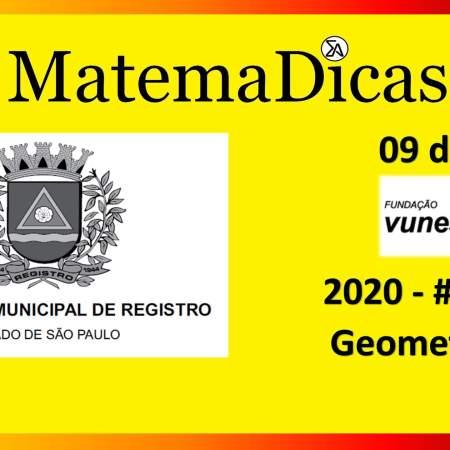 Geometria (09 de 10) – Prefeitura Registro – Vunesp 2018 – #0289 – Matemática