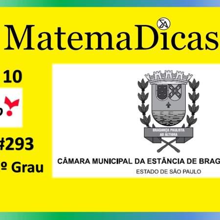 Equação 1º Grau (03 de 10) – Câmara de Bragança Paulista – Vunesp 2020 – #0293 – Matemática
