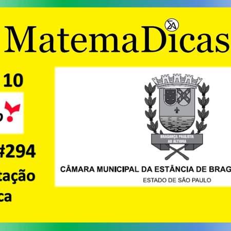 Interpretação Gráfica (04 de 10) – Câmara de Bragança Paulista – Vunesp 2020 – #0294 – Matemática