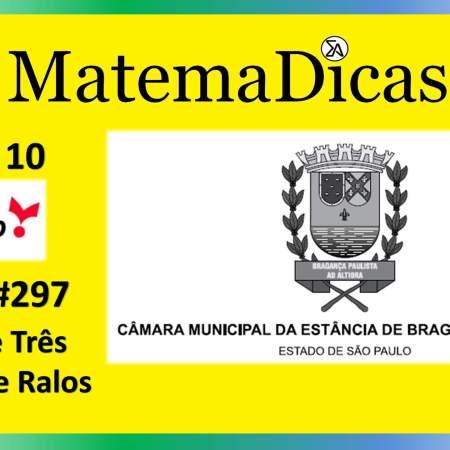 Regra de três (07 de 10) – Câmara de Bragança Paulista – Vunesp 2020 – #0297 – Matemática