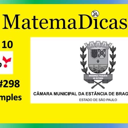 Média Simples (08 de 10) – Câmara de Bragança Paulista – Vunesp 2020 – #0298 – Matemática