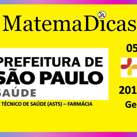 Geometria (05 de 08) – Assist. Téc. Saúde (ASTS) - Pref. SP – Instituto Mais (2017) – #020 – Matemática