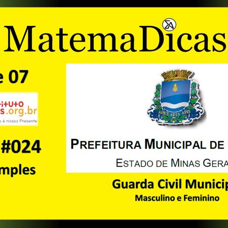 Juros Simples (01 de 07) – Guarda Civil Municipal - Prefeitura Guaxupé – Instituto Mais (2018) – #024 – Matemática