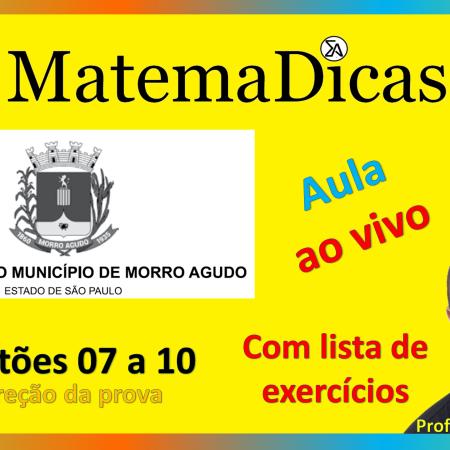 Live #018 - 20/10/2020 - Correção da prova - Prefeitura de Morro Agudo - Questões 06 a 10