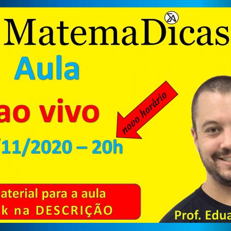 Live #020 - 17/11/2020 - Correção da prova - Prefeitura de Sorocaba - Questões 03 e 04