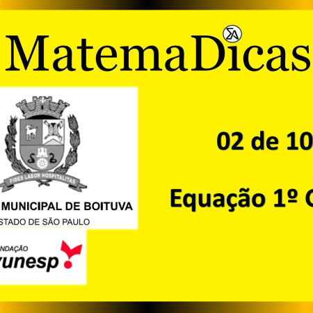Equação 1º Grau (02 de 10) – Câmara de Boituva – Vunesp 2020 – #0302 – Matemática