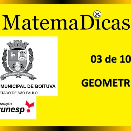 Geometria (03 de 10) – Câmara de Boituva – Vunesp 2020 – #0303 – Matemática