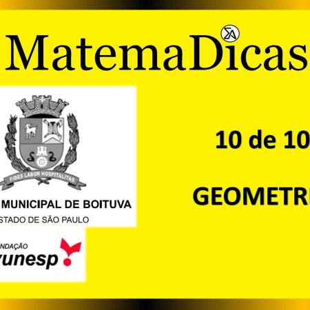 Geometria (10 de 10) – Câmara de Boituva – Vunesp 2020 – #0310 – Matemática