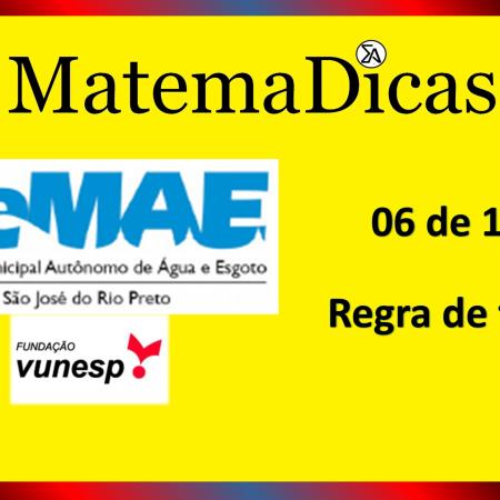Regra de três (06 de 10) – SEMAE - São José do Rio Preto – Vunesp 2020 – #0341 – Matemática
