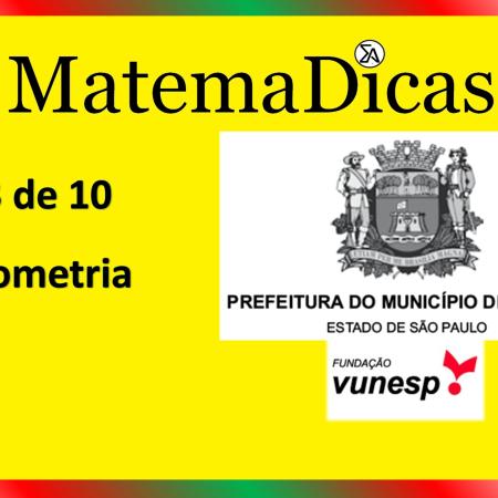 Geometria (03 de 10) – Prefeitura de Jundiaí – Vunesp 2021 – #0348 – Matemática