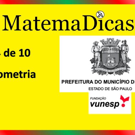 Geometria (04 de 10) – Prefeitura de Jundiaí – Vunesp 2021 – #0349 – Matemática